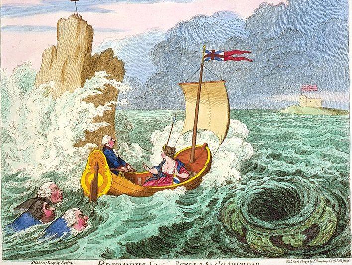 Il mito di Scilla e Cariddi